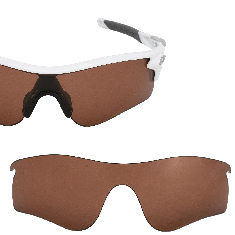 6706b4e9aba Amazon.com  LenzFlip Lenses Compatible with Oakley Radarlock Path (Brown  Polarized)  Clothing