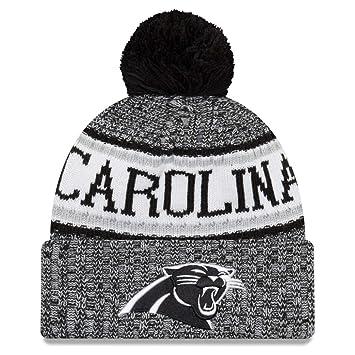 445c7f6cad7e80 New Era NFL Sideline 2018 Bobble Beanie Carolina Panthers: Amazon.co ...