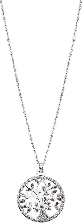 Lotus Silver LP1896/1/1 Colgante Mujer Árbol de la vida Plata Tamaño 25 mm Piedras