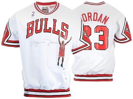 a090d8e541a863 Michael Jordan Chicago Bulls Autographed White Jacket - PSA DNA ...