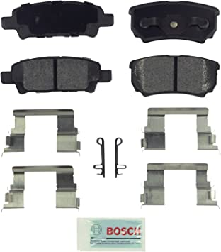 Disc Brake Pad Set-Quietcast Ceramic Pads with Hardware Rear Bosch BC1037
