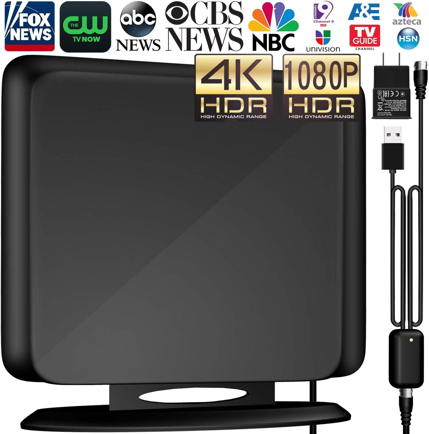 Antena de TV digital HD de 138+Miles para interior: Amazon.es: Electrónica