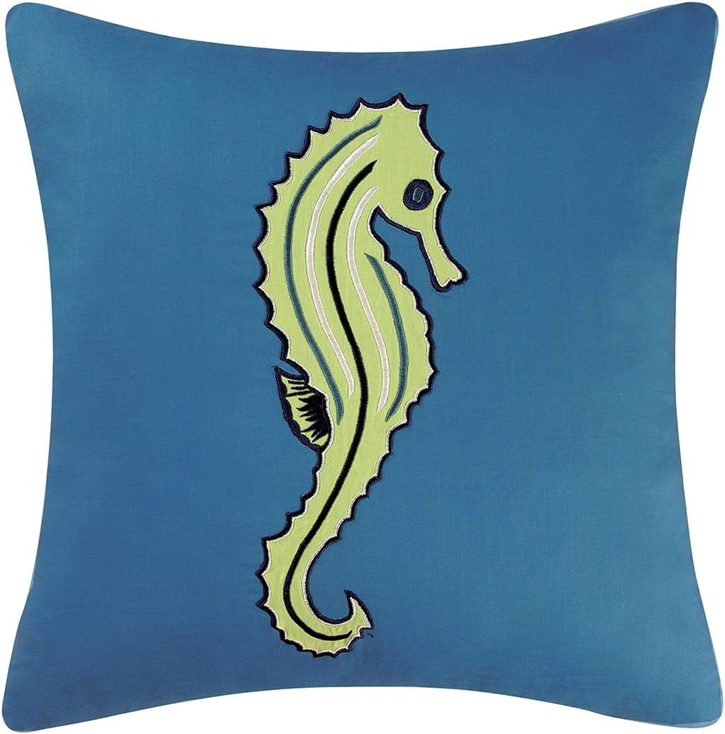 C F Home 18×18 Inches, Seahorse Pillow