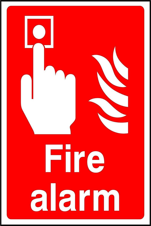 2 x Pegatinas de vinilo de alarma contra incendios seguridad ...