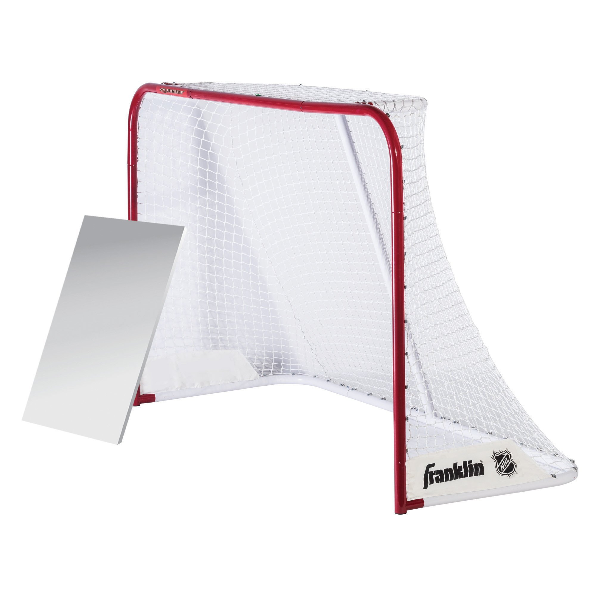 Franklin Sports Hockey Goal - NHL - Steel - 72 Inches - With Shooting Board - Quickset by Franklin Sports