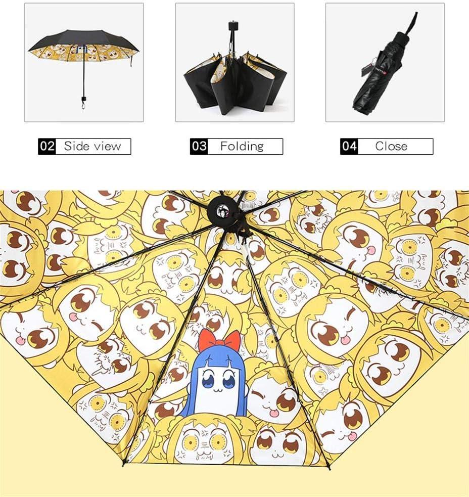 Mikucos JoJos Bizarre Adventure Umbrella Folding Umbrellas 3D Print Sunproof Rain JoJo