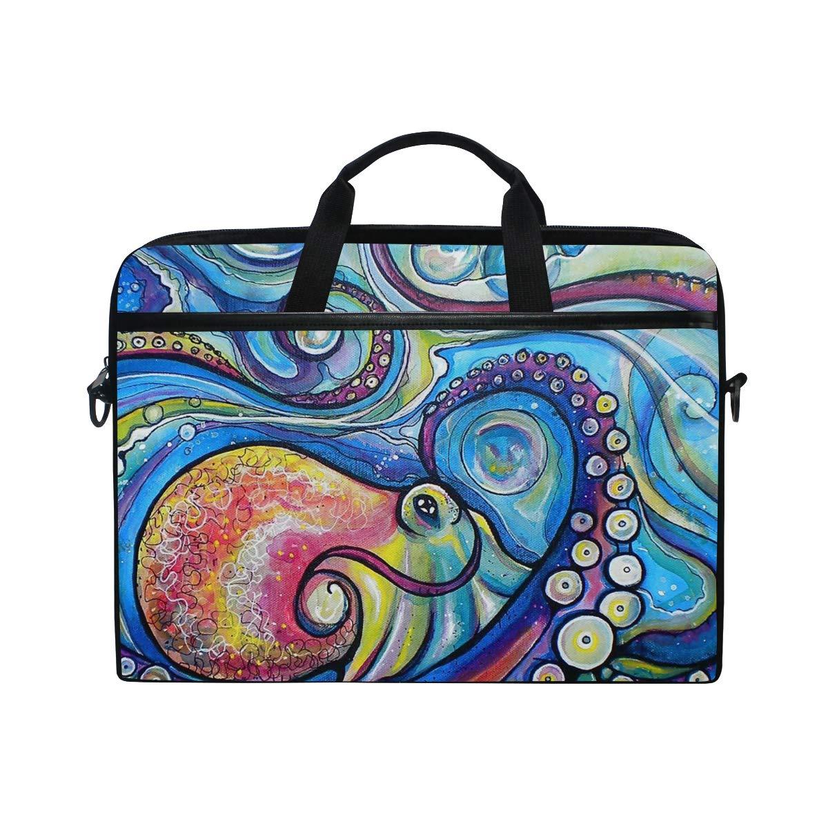 37b393f7b87a Amazon.com: Octopus Painting Laptop Shoulder Messenger Bag Sleeve ...