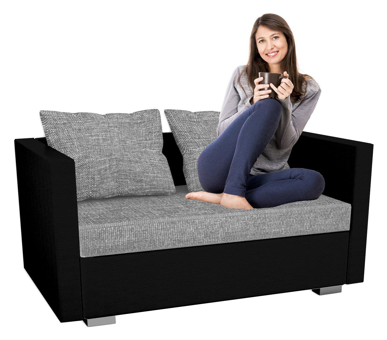 VCM 2er Schlafsofa Sofabett Couch Sofa Mit Schlaffunktion Sinsa Schwarz 60 X 122 78 Cm Amazonde Kuche Haushalt