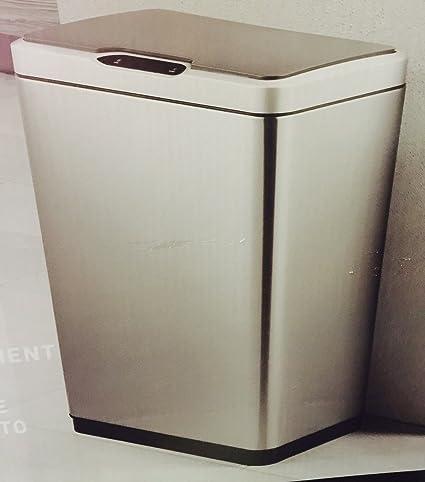 Eko Sensible Eco Living Motion Sensor Trash Can 47l Stainless Steel 12 4 Gallon