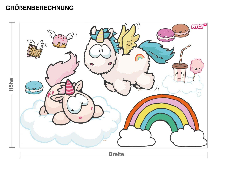 Klebefieber Wandtattoo Theodor & Rainbow Flair Fliegen B x H H H  60cm x 40cm B0751BFHVZ Wandtattoos & Wandbilder 87ef6f