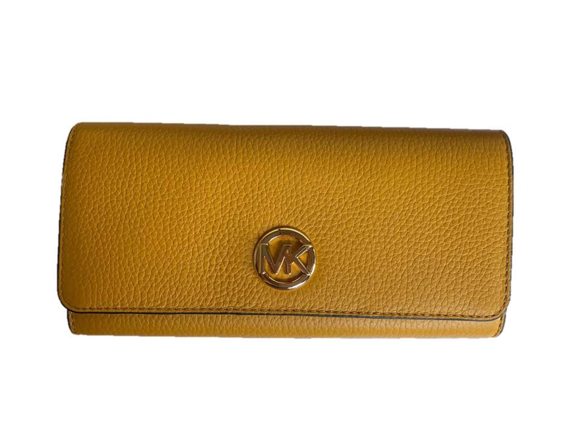 Michael Kors Fulton Flap Continental Leather Wallet - Marigold
