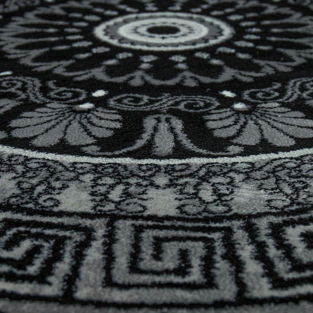 Paco Home Designer Designer Designer Teppich Wohnzimmer Mandala Muster Kurzflor Barock Stil In Grau Schwarz, Grösse 200x290 cm B077MKRKXP Teppiche b114d6