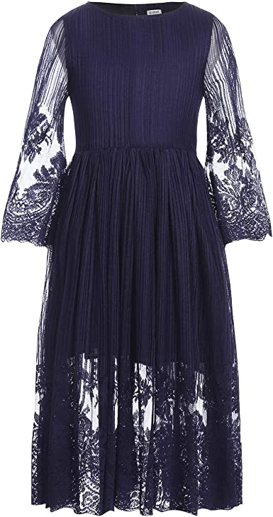 S3 BABY Children GIRL PAGEANT FORMAL PARTY WEDDING SHORT DRESS BLUE 2 3 4 5 6 7