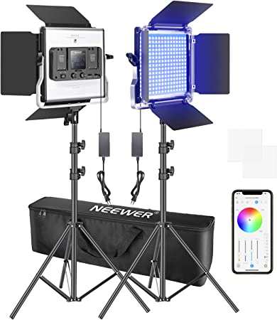 Neewer Pack Of 2 660 Rgb Led Light With App Control Camera Photo