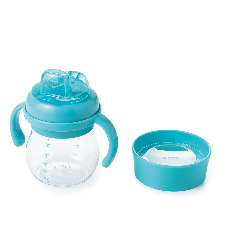 OXO Tot Transitions Soft Spout Sippy Cup Set, Aqua, 6 Ounce 6194100