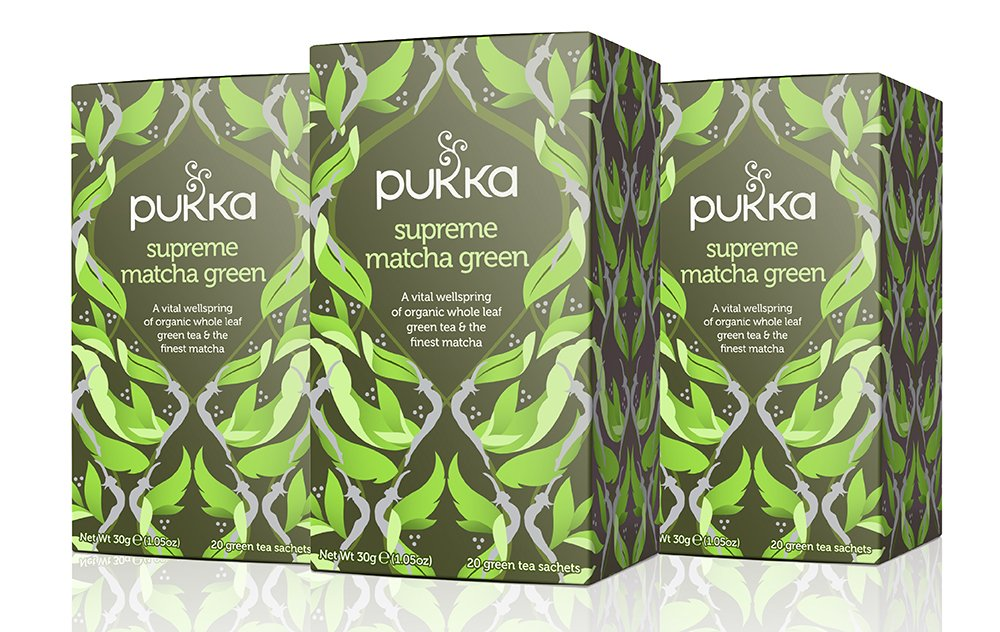 Pukka Supreme Matcha Green, Organic Herbal Green Tea with Oothu, Sencha & Suio Gang, 20 Count (Pack of 3)