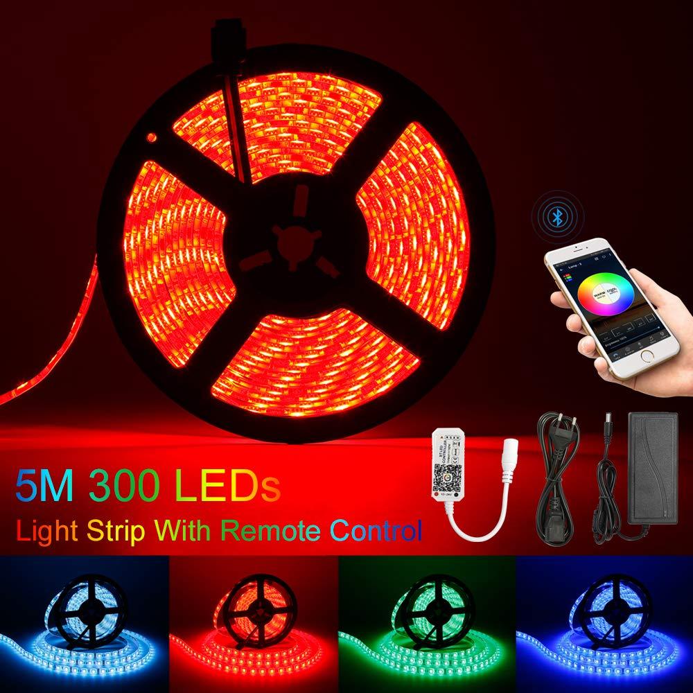 RGBW//RGB Smart Controller Bluetooth per LED Strip//Strip dimmerabile 16 milioni di colori Illuminazione e lampadine fai-da-te sveglia musica e microfono Luci interne