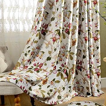 2er-Set Romantische Gardinen Vintage Creme Vorhänge Klassische Blickdicht  Vorhänge für Schlafzimmer Wohnzimmer(245*140cm)