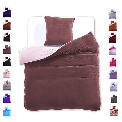 135x200 Cm Bettwäsche Mit 1 Kissenbezug 80x80 Mikrofaser Weich Warm