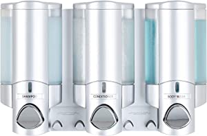 Better Living Products 76335-1 Aviva Three Chamber Dispenser, Satin Silver