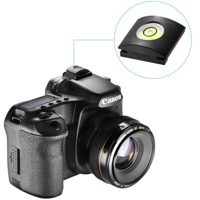 Nikon Fujifilm Panasonic Neewer/® 10PCS Camera Flashlight Hot Shoe Cover with Bubble Spirit Level for Canon Olympus Sigma DSLR//SLR//EVIL Camera Pentax