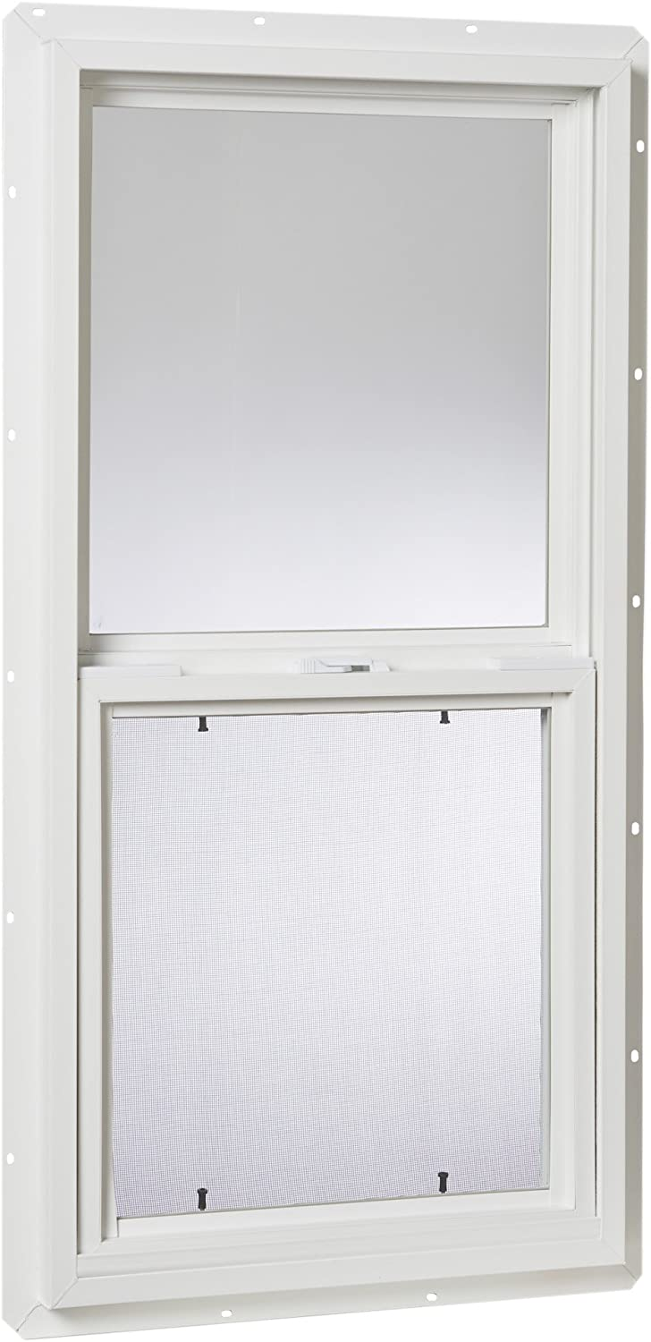 "Park Ridge Products Glazed Park Ridge VSH1836PR Vinyl Hung Window, 18"" x 36"", White Single Glass, 18"" X 36"
