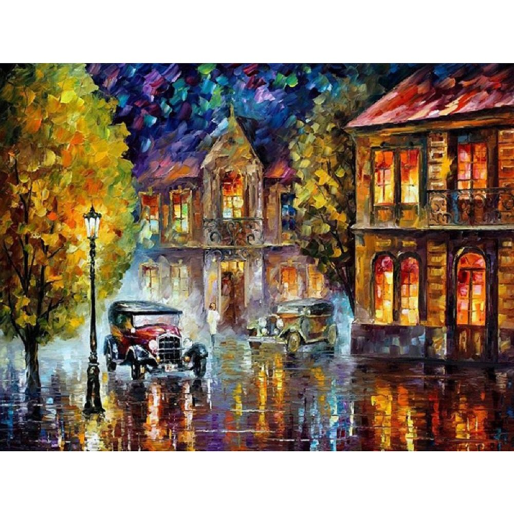 Wooden frame, Golden girl Bigie Diy Oil Painting Paint by Number Kit with Couple Abstract painting Life 16x20 inch