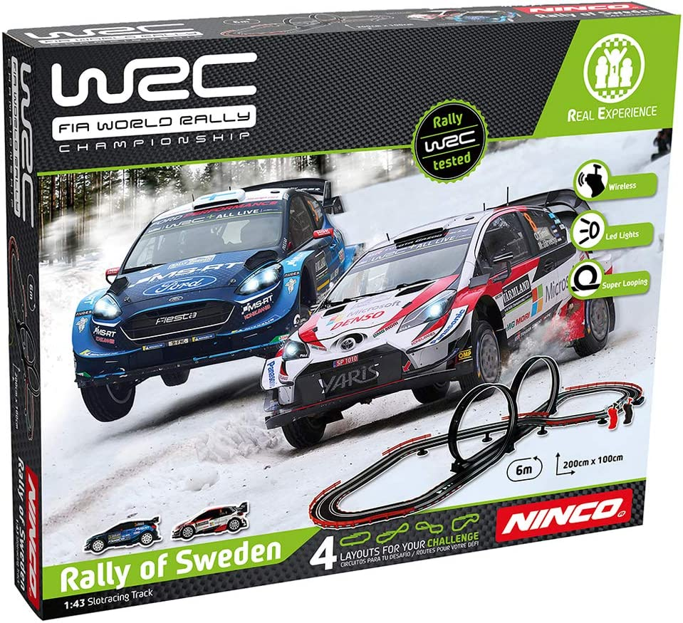Ninco WRC Rally Sweden Circuito Slot, multicolor, Talla Única (Fábrica De Juguetes 91013) , color/modelo surtido