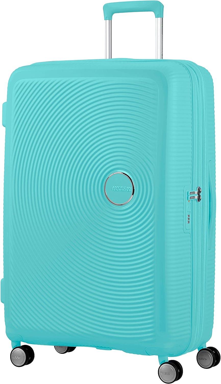 American Tourister Soundbox - Spinner L Expandible Maleta, 77 cm, 97/110 L, Azul (Poolside Blue)