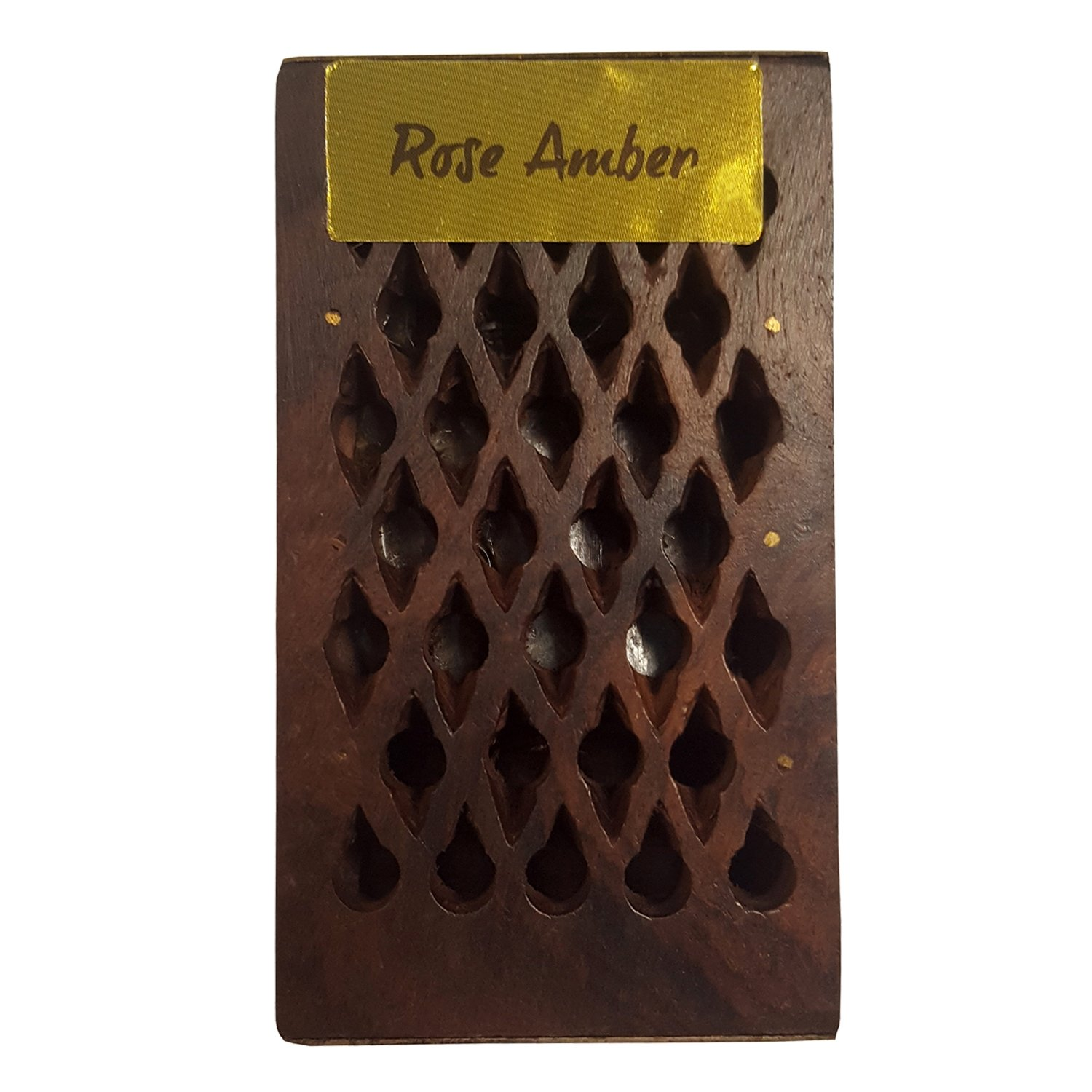 FindSomethingDifferent Incense Resin Rose/Amber in a Decorative Wooden Box Find Something Different 9170263