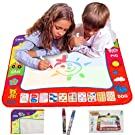 "Ehdching Aqua Magic Water Doodle Mat 4 Color Boys Water Magic Drawing Board Kids Educational Toy with 2 Magic Drawing Pens for Girls Toddlers Kids Children 31.5"" x 23.6 (Box Package)"
