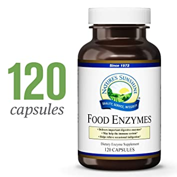 Natures Sunshine Food Enzymes, 120 Capsules | Digestive Enzymes with Betaine HCL Support The Digestive System and Provide Occasional Indigestion ...