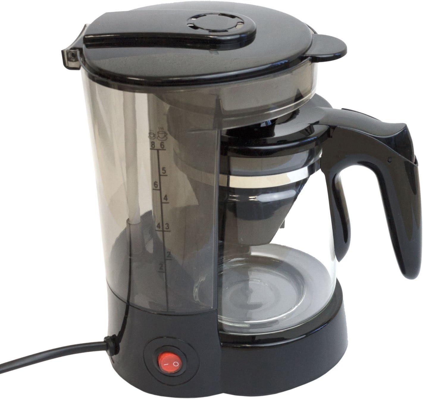 Cafetera con jarra de cristal (6 tazas/24 V/300 W Viaje Cafetera ...