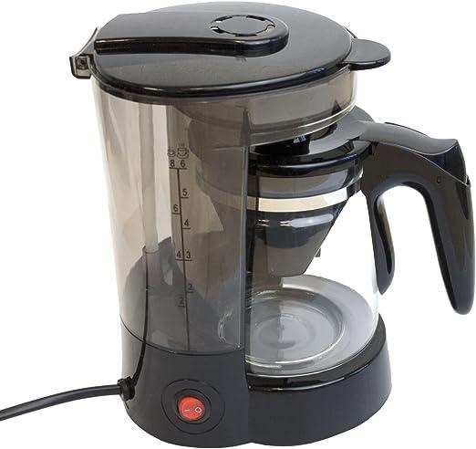 Cafetera con jarra de cristal (6 tazas/24 V/300 W Viaje Cafetera Eléctrica Camión, Barco o Camper Encendedor de cigarrillos filtro cafetera eléctrica: Amazon.es: Hogar