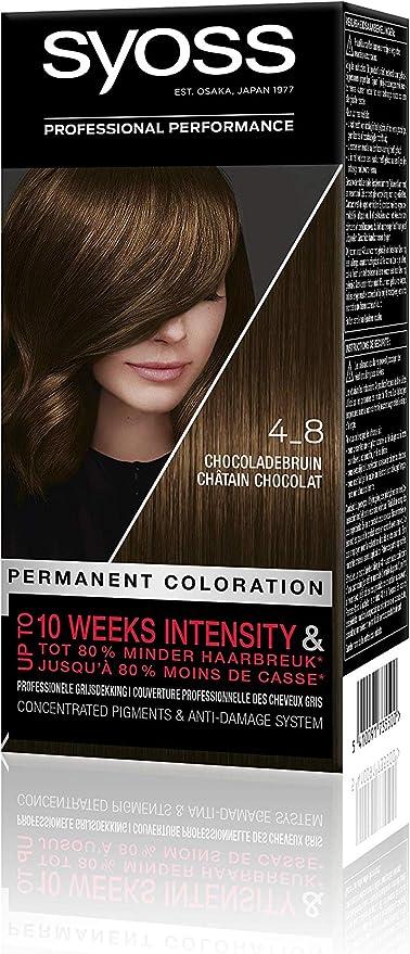 Syoss Color baseline 4-8 - Tinte para el pelo, color marrón ...