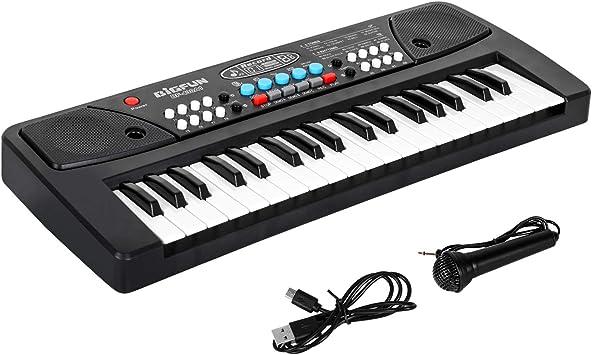 Shayson Teclado de Piano portatil, 37 Teclas Juguete de Música Multifuncional Teclado Electrónico Piano con Micrófono Regalo Educativo para ...