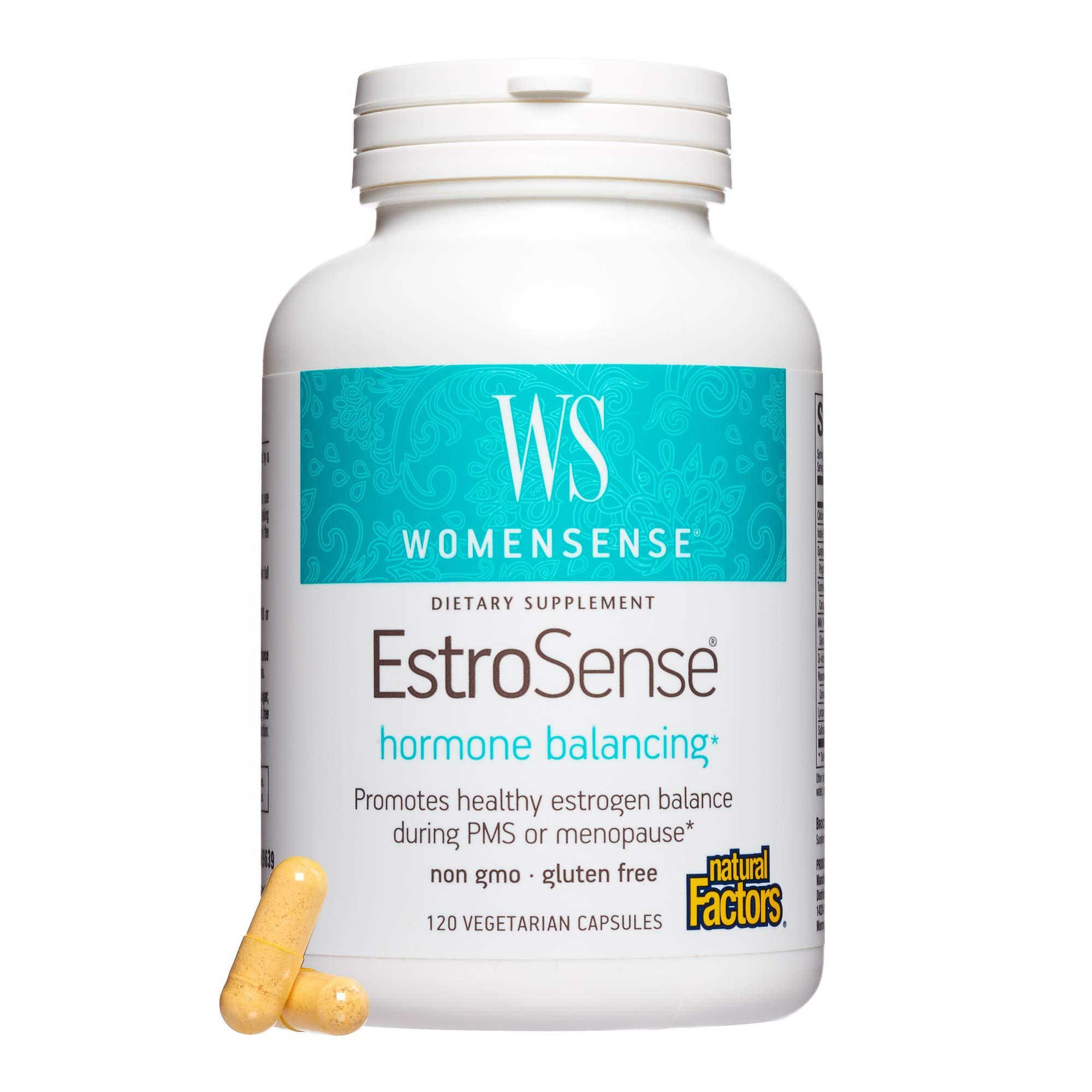 Natural Factors - WomenSense EstroSense, Promotes Estrogen and Hormone Balance for Women, 120 Vegetarian Capsules