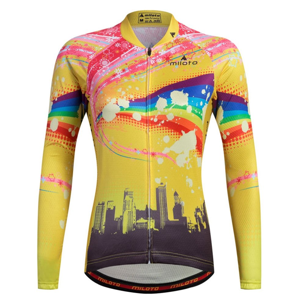 Uriah Women 's Cycling Jersey熱フリース長袖Reflective B074RDQTJF Chest 45.6''=Tag XXXL|Raibow Sky Raibow Sky Chest 45.6''=Tag XXXL