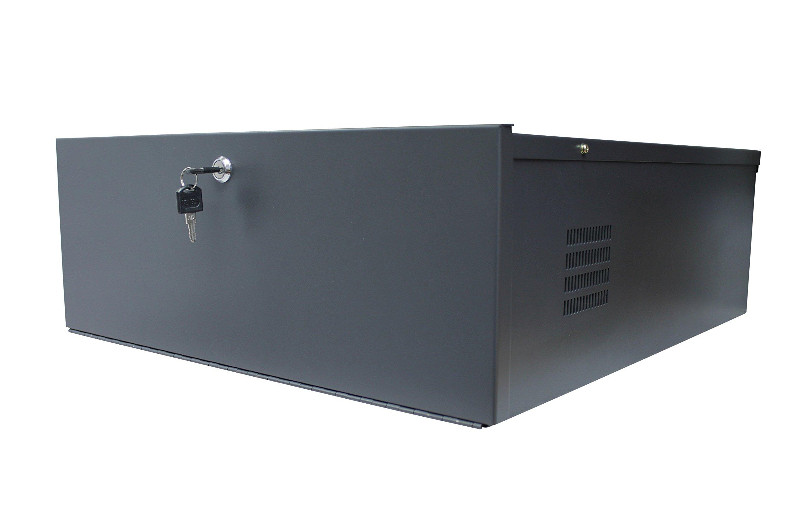 Kenuco Heavy Duty 16 Gauge Steel 24'' x 21'' x 8'' DVR Security Lockbox with Fan by Kenuco