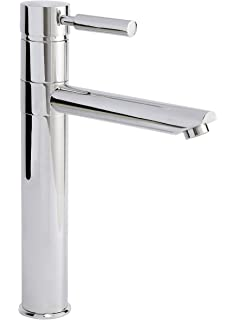 Chrome Modern Bathroom Basin Sink Mono Mixer Tap Round Single Lever High Rise