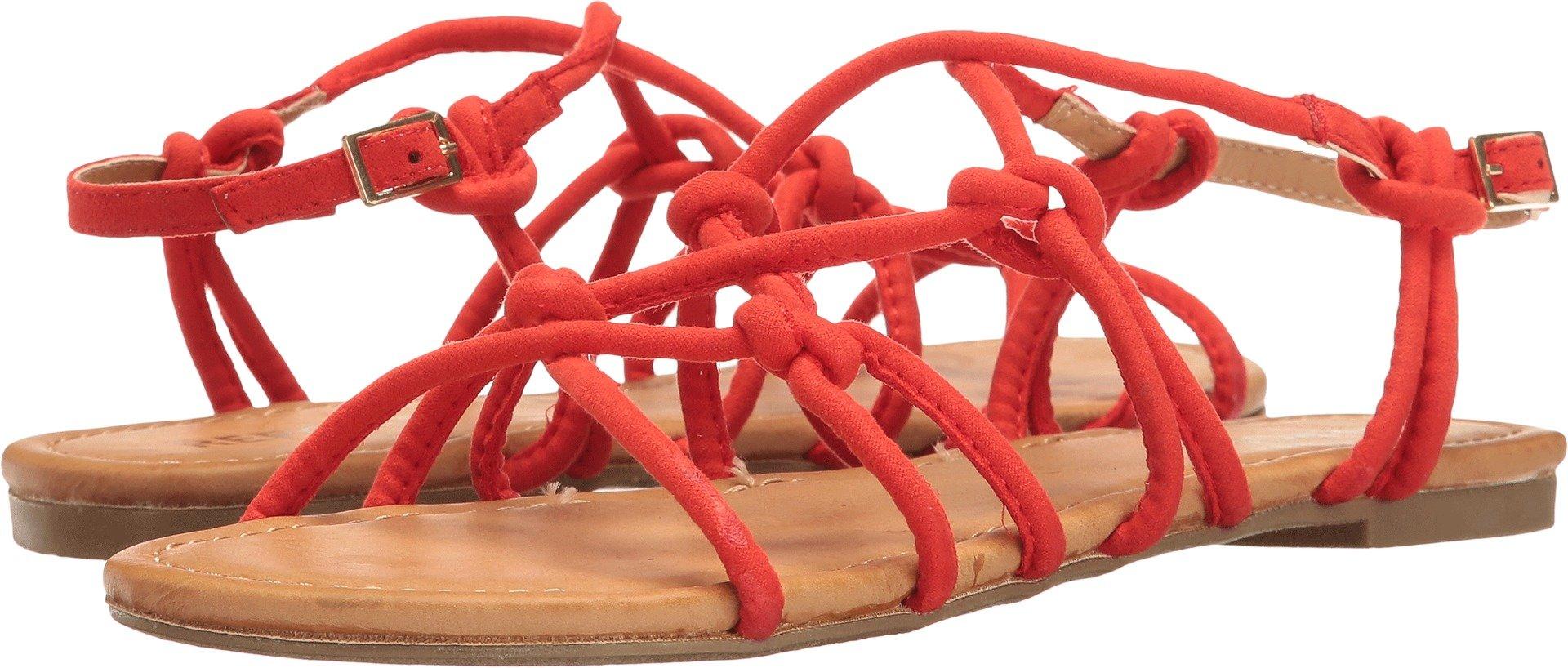 Report Genny Women's Sandal, Orange Synthetic, Size 6.0