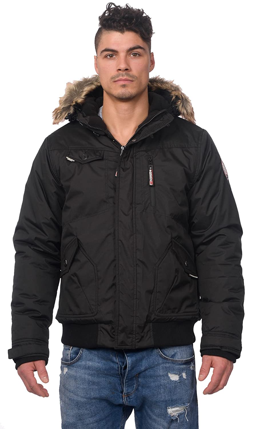 Geographical Norway Men's Bizon Winter Jacket Warm Parka Bomber BIAC_BIZON