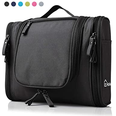 657669a7e4 Heavy Duty Waterproof Hanging Toiletry Bag - Travel Cosmetic Makeup Bag for  Women   Shaving Kit