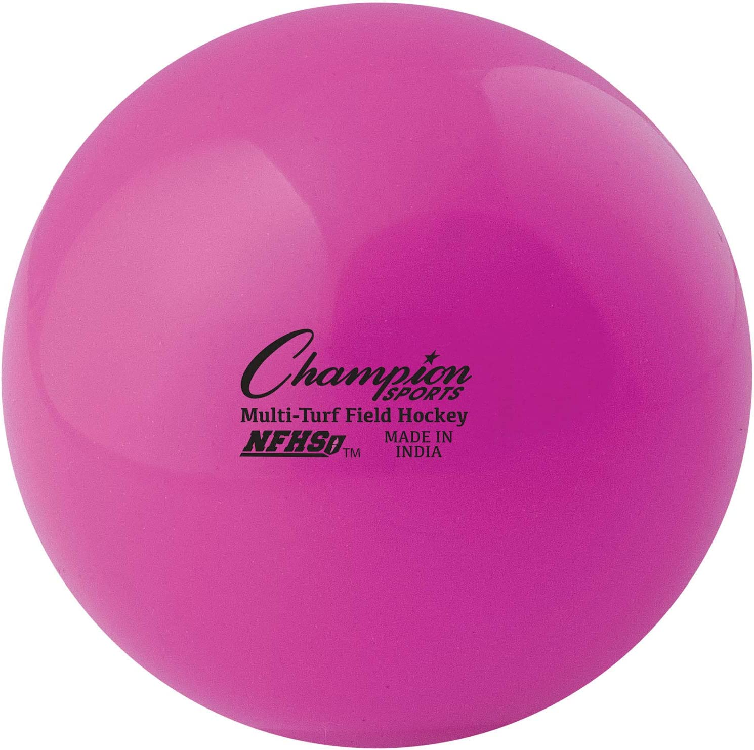 """Champion Sports Field Hockey Balls, Regulation Size, 12-Pack, 2.75"""" Each - NFHS-Approved Sports Hockey Ball Set for Fields, Grass, Turf - Durable, Bouncy, Lightweight, Bright Colored - Pink : Sports & Outdoors"""