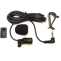Augustcoco Microphone externe 3,5mm, à monter sur voiture, Bluetooth, audio, stéréo, radio, GPS, DVD