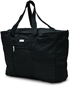 Samsonite Foldaway Packable Tote Sling Bag, Black, One Size