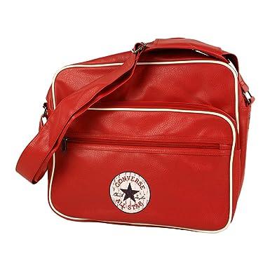 Converse Messenger Tasche Vintage Patch PU Reporter Bag regular red - 32 cm  x 38 cm 6b32bdfa20199
