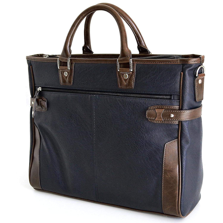 AVECALDO(アベカルド) 紳士用 ビジネスバッグ メンズ B4 AV-E027 B01IEJ1WQE ネイビー/バッグインバッグ付 ネイビー/バッグインバッグ付