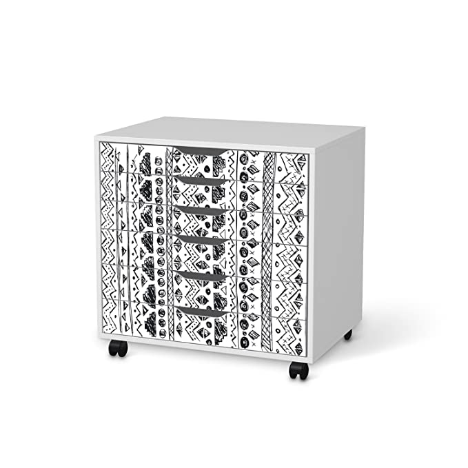 IKEA Alex cajonera con ruedas para muebles de-lámina 6 cajones/diseño de Ethno Art/Lote de burbujas: Amazon.es: Hogar