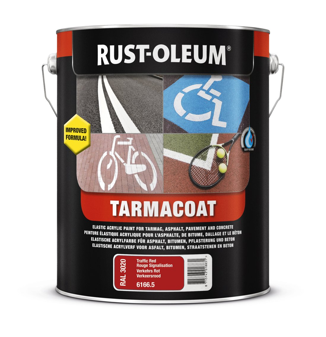 RUST-OLEUM 6169.5 Tarmacoat, Multi-Surface Floor Paint That Dries In 1 Hour!, English red